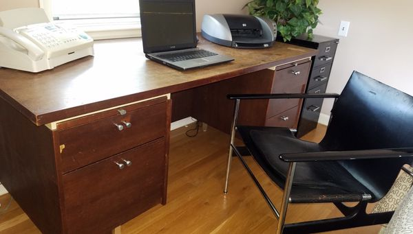 mid century office desk. $200