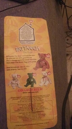 Britannia the bear tag error for Sale in Tulsa, OK