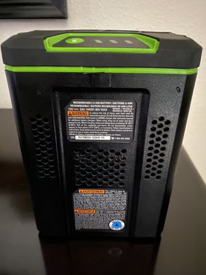 Greenwoorks 80v battery rechargeable for Sale in Traver, CA