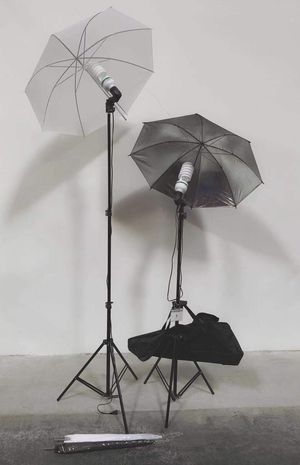 Brand new 2 stands with bulbs 4 umbrellas photo photography studio fluorescent lights height adjustable stand kit for Sale in Whittier, CA