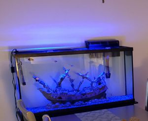 Fish tank 60 gallon with stand for Sale in Huntington Beach, CA