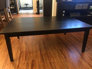 FREE/ Pick up in West Covina / Black wood coffee table for Sale in Covina, CA