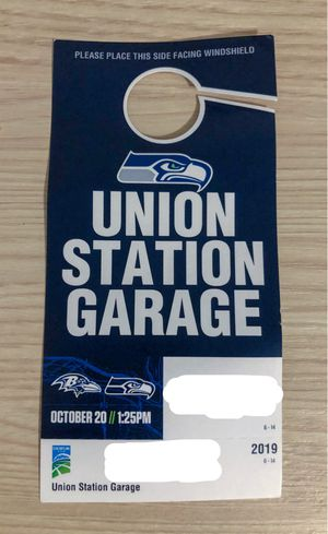 Seahawks VS Ravens Parking Pass: LESS THAN A 3 MINUTES WALK for Sale in Shoreline, WA