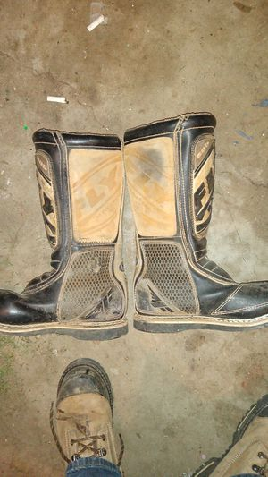 Motorcycle size 10 riding boots made by fly racing manufacturingfly$35 for Sale in Camas, WA