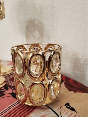 Large crystal gold candle holder for Sale in Riverside, CA