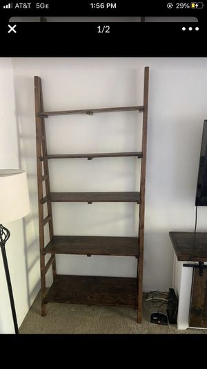 wood ladder shelf for Sale in Downey, CA