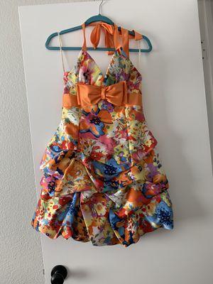 Orange floral Prom Dress Size 7 for Sale in Phoenix, AZ
