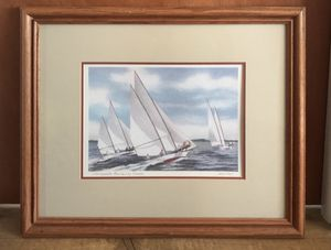 "John Moll Prints Matted/Framed ""Chesapeake Bay Pungy"" and ""Chesapeake Racing Log Canoes"" for Sale in Stafford Township, NJ"