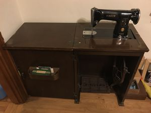 Antique sewing machine table for Sale in Seattle, WA