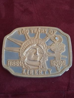 "Farming..L@@K !! Vintage ""100 Years of Liberty"" Statue of Liberty Belt Buckle .NICE!! for Sale in Lincoln Acres, CA"