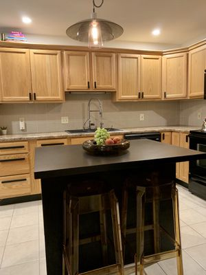 Kitchen cabinets, sink, oven and microwave... for Sale in St. Louis, MO