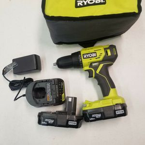RYOBI DRILL WITH 2 BATTERIES,CHARGER AND BAG for Sale in Houston, TX