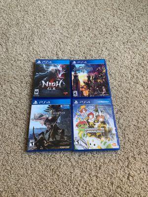 Kingdom Hearts 3, NIOH, Digimon, Monster Hunter for Sale in Renton, WA