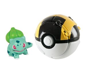 TOMY POKEMON THROW N' POP BULBASAUR AND POKE BALL RARE COLLECTIBLE ACTION FIGURE for Sale in Roman Forest, TX