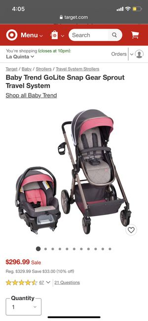 Got this stroller for my baby shower but I already had one selling it for $180 for Sale in Coachella, CA