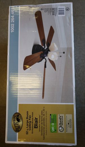 Blair 52 in. LED Indoor Oil-Rubbed Bronze Ceiling Fan with Light Kit for Sale in North Las Vegas, NV