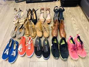 13 pairs of Women's Shoes Size 7-8 (Nike, Aldo, Asos, Keds, Toms, Soda) Sneakers, Heels, Casual, running for Sale in Los Angeles, CA