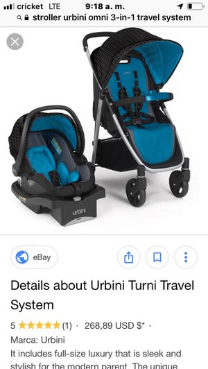 Car seat with base and stroller Urbini for Sale in El Centro, CA