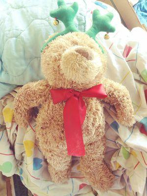 2 Christmas stuffed animals- reindeer bear and rudolph for Sale in Auburndale, FL