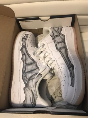 Nike Air Force 1 Skeleton White Halloween 2018 for Sale in Fremont, CA