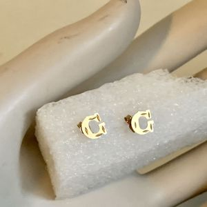 Small Letter G 10kt Solid Yellow Gold Diamond Cut Earrings 7mm PRICE IS FIRM for Sale in Mountain View, CA