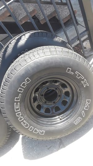 Set of rims & tires... for Sale in Los Angeles, CA