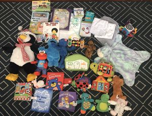Baby infant toddler toys books stuffed animals blankets for Sale in Los Angeles, CA