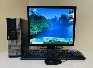 """DELL Core I3 @3,6 GHz, 4 Cores, Dual Display Desktop, VGA/DP .500GB HDD 4GB RAM, HD Graphics USB3/8 Ports, , Speaker, 19"""" Monit/Keyb/Mouse, Win10 Pro for Sale in Davie, FL"""