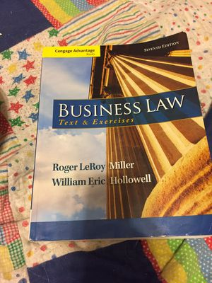Business law 7th edition miller hollowell for Sale in Poway, CA