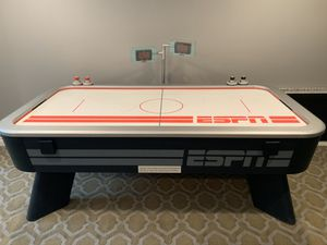 ESPN Sports Air Hockey Game Table & Matching Foosball Table - Soccer Hockey Football Game Room Man Cave Entertainment for Sale in Livonia, MI