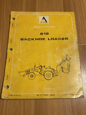 Allis Chalmers 816 Backhoe Loader Tractor Manual for Sale in Conestoga, PA