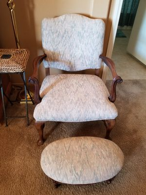 Antique Cherry Frame Sitting Chair & Stool for Sale in Las Vegas, NV