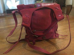 Red Italian Suede leather Hobo Bag Francesco Biasia for Sale in Monongahela, PA