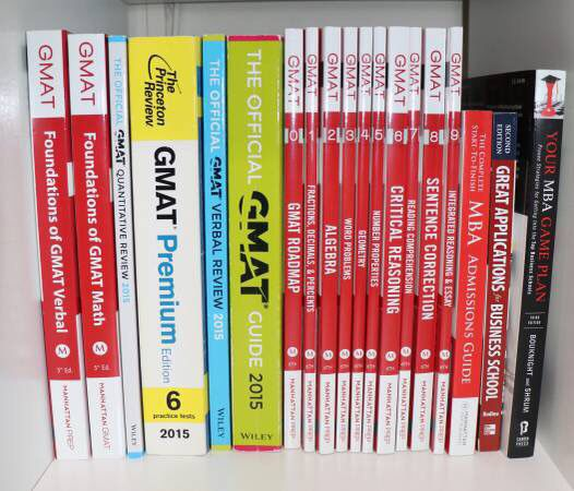 GMAT Books - Manhattan GMAT, The Official Guide, Princeton Review ETC