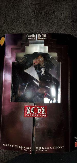 Disney Great Villains Collection 1996 Cruella De Vil...101 Dalmations ..Collector Barbie Doll for Sale in Anaheim, CA