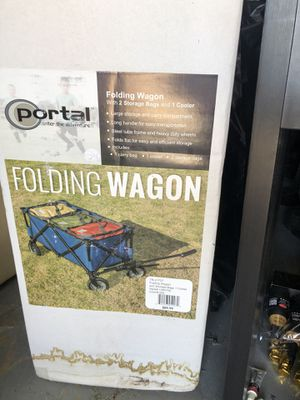 Folding wagon w/ two storage bags and a cooler! for Sale in Tempe, AZ