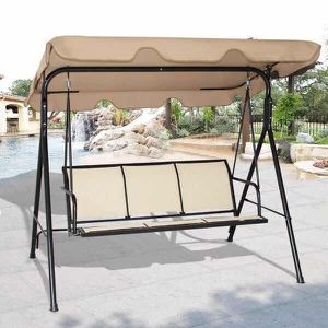 New in box 528 lbs porch swing bench chair with canopy sun shade for Sale in Covina, CA