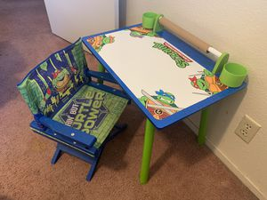 Ninja turtles kids table and chair for Sale in Orosi, CA