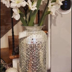 Beautiful vase Set two mirrored 21 x12 for Sale in Glen Burnie, MD