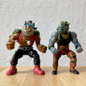 Vintage 1988 Teenage Mutant Ninja Turtles Bepop and Rocksteady Action Figure Toy Lot of 2 for Sale in Elizabethtown, PA