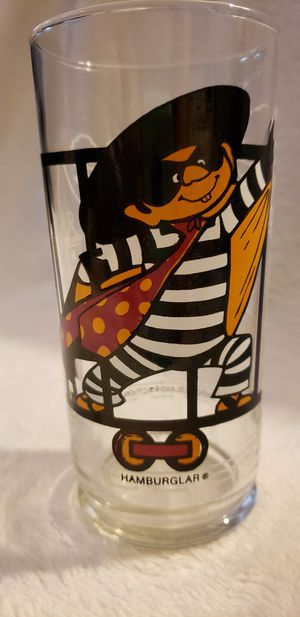 vintage 1970s McDonald's collectible Hamburglar glass cup for Sale in Moreno Valley, CA