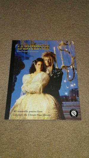Lootcrate Labyrinth Poster Book - Jim Henson, David Bowie, Jennifer Connelly -pics from shooting of 1986 movie for Sale for sale  Columbus, OH