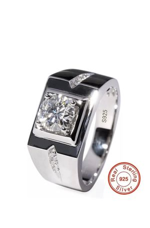 Unisex- Stamped 925 Sterling Silver Diamond Ring for Sale in Dallas, TX