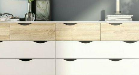 Tvilum Diana 8-Drawer White/Oak Structure Dresser for Sale in West Covina,  CA
