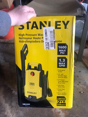 Stanley high pressure washer 1600 PSI .. 75 firm on price for Sale in Oak Lawn, IL