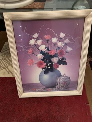 Photo Framed Flowered photo. Large Piece.. Nice Quality for Sale in Las Vegas, NV