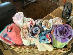 BASKET FULL OF BEACH TOWELS for Sale in Glendale, AZ