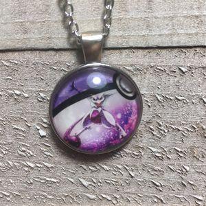 Pokemon Pokeball Mewtwo Purple Cabochon Necklace for Sale in Gordonville, PA