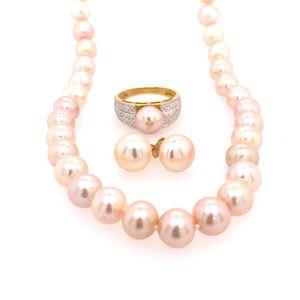 14k Pink Pearls Set for Sale in Alexandria, VA
