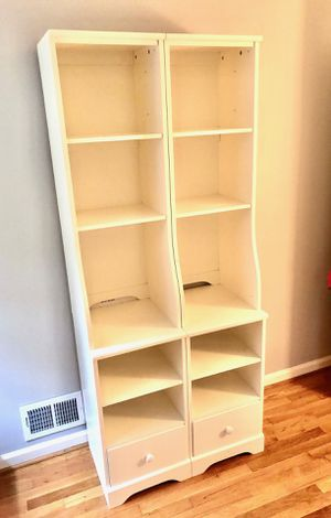 Tower White Bookcase for Sale in North Bethesda, MD